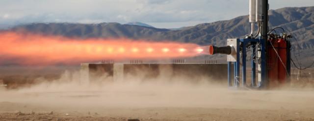 Booster engine testing. (Image courtesy of Vector Space Systems.)