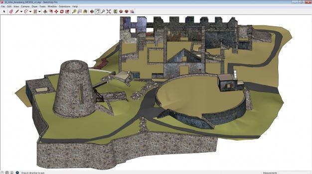 The Annaberg Sugar Plantation as a SketchUp model. (Image courtesy of CyArk.)