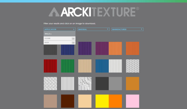 A selection of the textures available on the Arckitexture website. (Image courtesy of Arckit.)