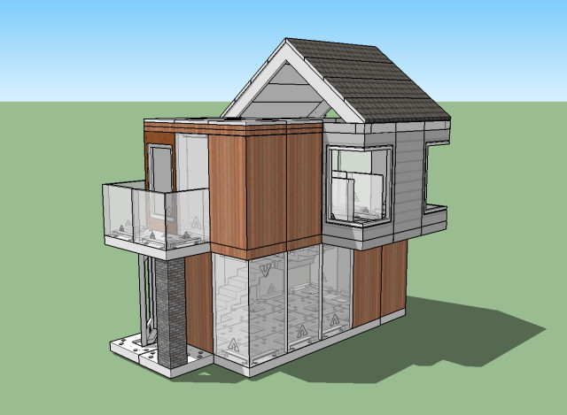 The textured version of my model in SketchUp Make. (Image courtesy of the author.)