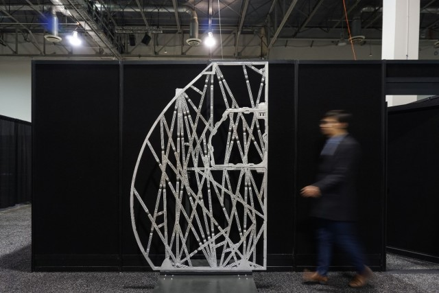 Airbus uses generative design for this cabin panel structure shown at Autodesk University. (Image courtesy of Autodesk.)