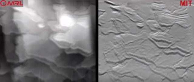 A chemical reaction captured using MIT's AFM. (Image courtesy of MIT/Youtube).