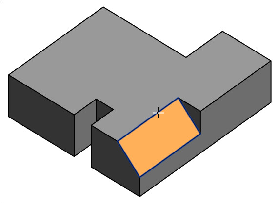 Figure 21. Selecting a slanted surface.