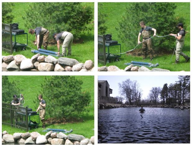 Students Install the Creek Monitoring System in Rock Valley College's Spring Creek