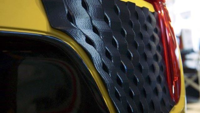 3D-printed Effect Skins allow drivers to customize the exterior of their cars. (Image courtesy of Stratasys.)