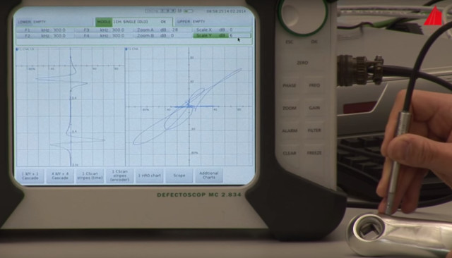 A crack is detected in the part. Screenshot courtesy of Hochschule Karlsruhe - University of Applied Sciences