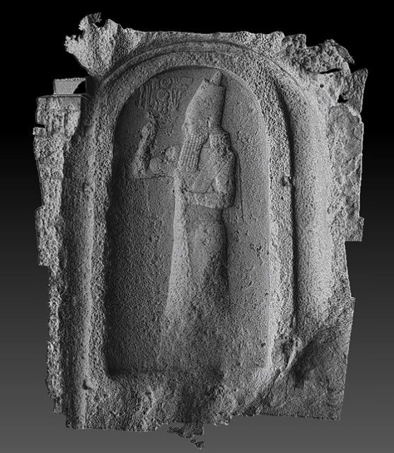 A photogrammetry-based 3D model of the commemorative stelae of Nahr el Kalb in Lebanon, captured by Factum Arte. (Image courtesy of Factum Arte.)