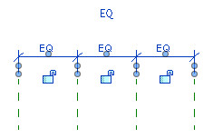 Figure 13. After clicking the EQ icon, dimensions are replaced with EQ.