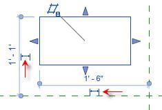 Figure 14. The dimension icon.