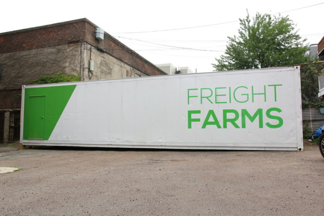 Freight Farms are made from upcycled shipping containers, a resource that frequently goes to the landfill. (Image courtesy of Freight Farms.)