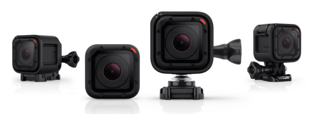 GoPro HERO4 Session Action Camera can be attached to UAVs for photogrammetric capture. (Image courtesy of GoPro.)