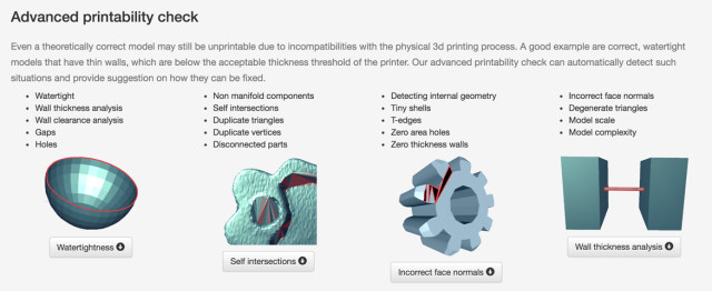 Printivate's 3D printability analysis tools. (Image courtesy of Printivate.)