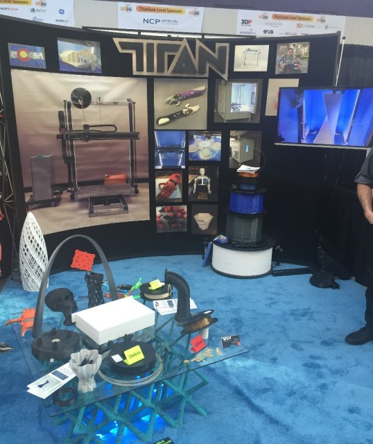 Titan Robotics display at the AMUG Conference. (Image courtesy of the author.)