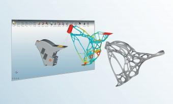 Altair's engineering software will be utilized to create unique 3D-printed designs. (Image courtesy of APWorks.)