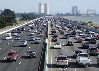 Sick of sitting in traffic? Deep reinforcement learning may be the answer. (Image courtesy of Wikipedia.)
