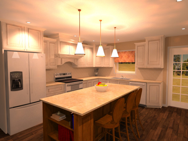 Rendering of a kitchen remodel project. (Image courtesy of Catie Henoch, Keokuk Homestore.)