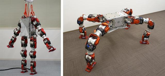 The WAREC-1 robot is designed to navigate a disaster area through unique movements. (Image courtesy of Kenji Hashimoto Lab and Atsuo Takanishi Lab, Waseda University.)