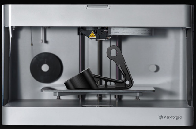 The Mark Two from Markforged is a low-cost fiber composite 3D printer. (Image courtesy of Markforged.)