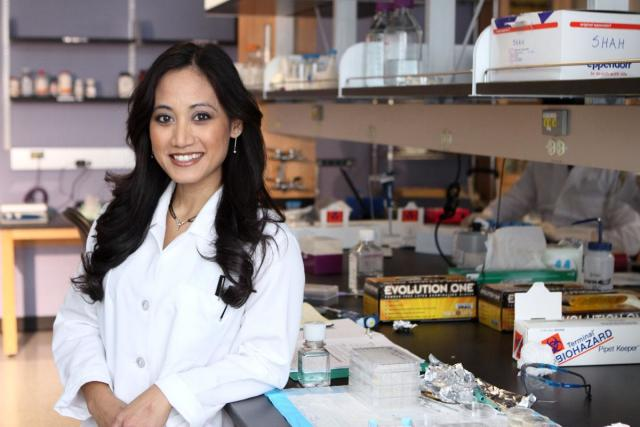Ramille Shah at the Shah TEAM Lab at Northwestern University. (Image courtesy of Ramille Shah.)