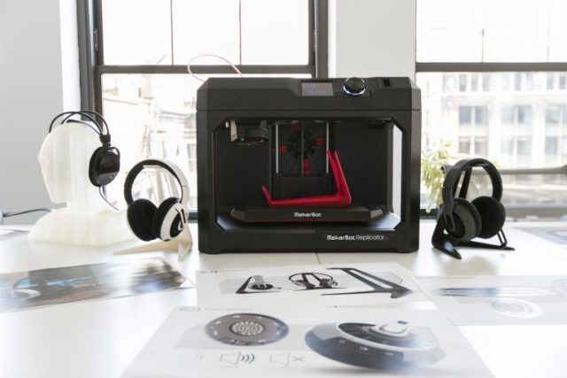 The MakerBot Replicator+ 3D printer. (Image courtesy of MakerBot.)