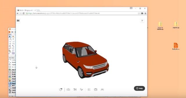 Once uploaded to Modelo.io, clients and colleagues can view 3D Vectorworks files from within their browser. (Image courtesy of Modelo.io.)