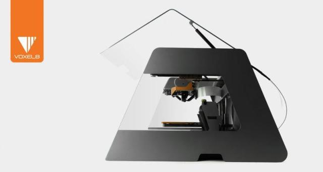 The Voxel8 Developer's Kit 3D printer prints conductive ink in combination with plastic to create functional electronic objects. (Image courtesy of Voxel8.)