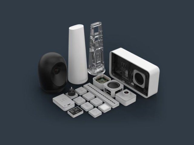 Nascent Objects' modular electronic devices, with components 3D printed using EnvisionTEC's 3SP 3D printing technology. (Image courtesy of Nascent Objects.)