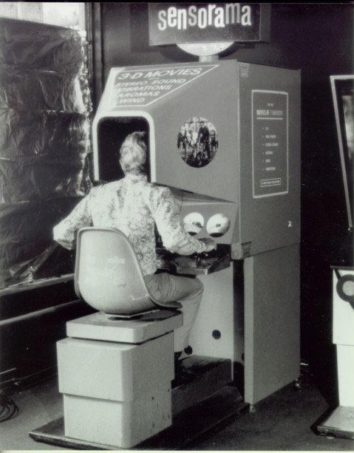 The Sensorama Stimulator. (Image courtesy of www.mortonheilig.com.)