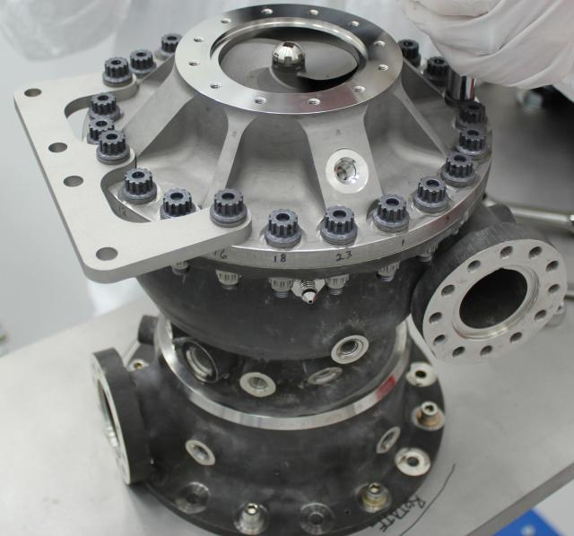3D printing the turbopump allowed NASA to reduce part count by 45 percent. (Image courtesy of NASA/MSFC.)