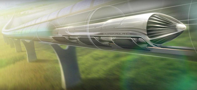 Hyperloop concept as envisioned by HyperPoland, a collaboration between the Warsaw University of Technology and tech startup Carbon Workshop. (Image courtesy of HyperPoland.)