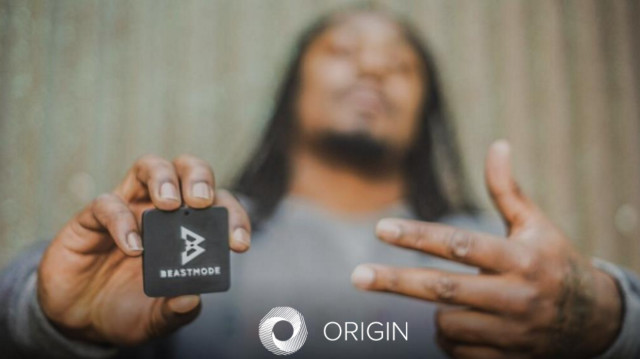 Origin goes into beast mode witha tagthat authenticates a line of shoes inspired by Seattle Seahawks star running back, Marshawn Lynch. (Image courtesy of Autodesk.)