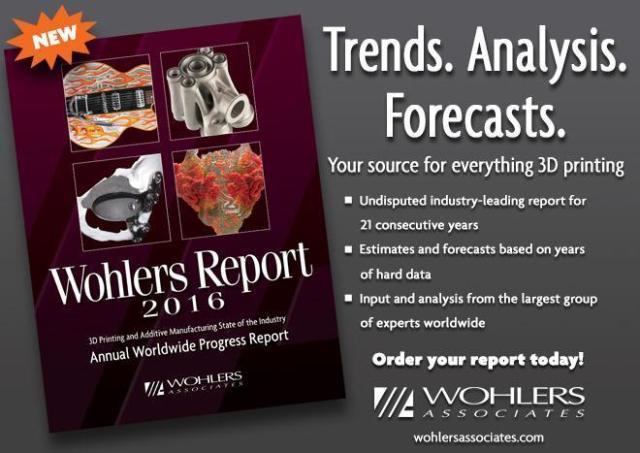 Wohlers Report is now in its 21st year. (Image courtesy of Wohlers Associates.)