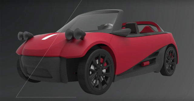 Local Motors' 3D-printed LM3D Swim vehicle, to be made highway-ready by 2017. (Image courtesy of Local Motors/YouTube.)