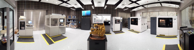 Caterpillar's new Additive Manufacturing Factory features 10 industrial 3D printers using different technologies. (Image courtesy of Caterpillar.)