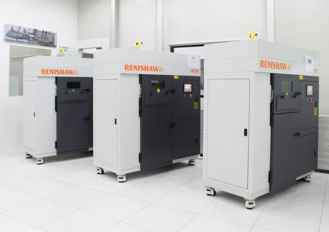 Renishaw AM250 metal 3D printers located at the new center in Pune, India. (Image courtesy of Renishaw.)