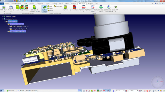 Zuken's CR-8000 software shows electronics in 3D, helping engineers