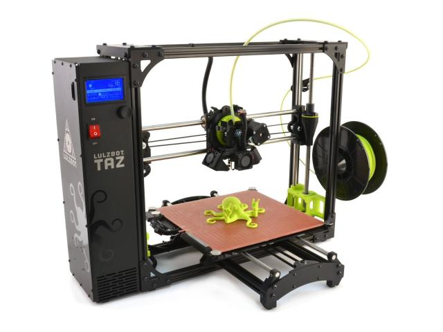 The LulzBot TAZ 6 is the latest version of the large-format TAZ 3D printer from Aleph Objects. (Image courtesy of Aleph Objects.)