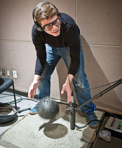 Foley artists reproduce everyday sound effects for radio, film and television.