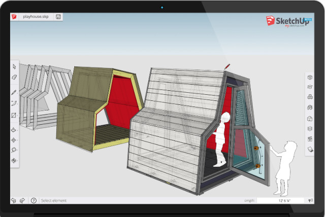 my.SketchUp is like SketchUp Make—free, but it runs on a browser. (Image courtesy of Trimble.)