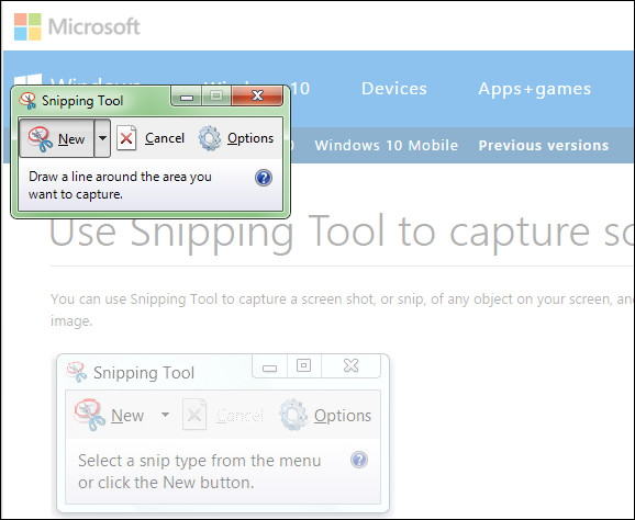 Figure 2. The Snipping Tool in Windows. (Image courtesy of the author.)