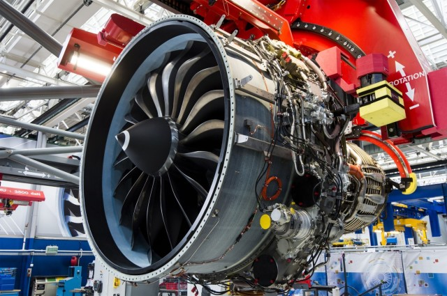 The LEAP-1A engine features next generation technology for greater fuel efficiency and decreased CO2 emissions. (Image courtesy of CFM International.)