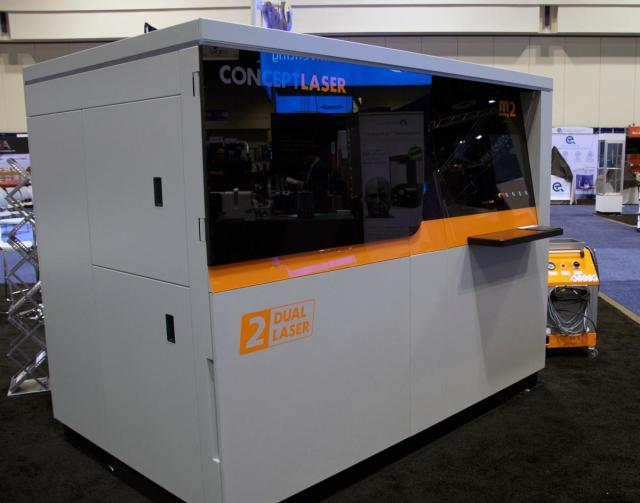 The M2 from Concept Laser on display at RAPID 2016.