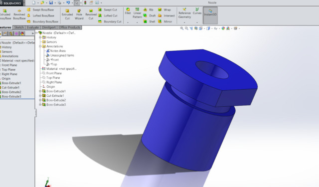 SOLIDWORKS part created on the XiPowerGo XT. (Image courtesy of the author.)