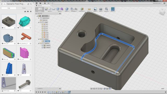 Figure2. The Fusion 360 environment for design and collaboration.