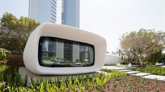 The Office of the Future was 3D printed in just 17 days. (Image courtesy of the Government of Dubai Media Office.)
