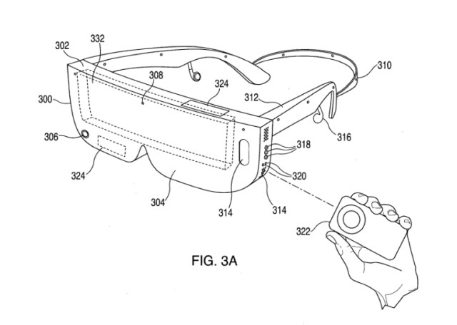 Many of the patent filings explore various ways of incorporating a separate cell phone into a headset to create a VR experience rather than headsets with independent systems and displays. (Image courtesy of the United States Patent and Trademark Office.)