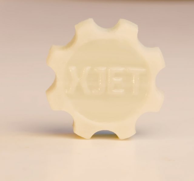 A detailed 3D-printed ceramic part made with XJet's NPJ technology. (Image courtesy of the 3D Printing Business Directory.)