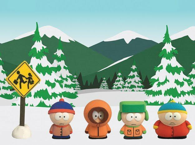 The kids of South Park for the first time in 3D-printed form. (Image courtesy of Source3.)