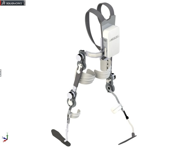 The ANGELEGS device was designed entirely in SOLIDWORKS. (Image courtesy of SOLIDWORKS.)