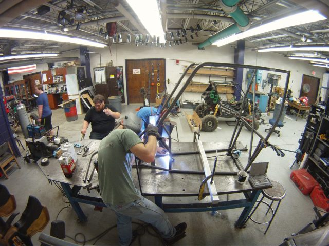 "Figure 2. Tennessee Technical University supports student competitions such as Baja SAE with shop and testing facilities where students develop practical knowledge, time management and leadership skills. ""Employers love to come here,"" enthused team mentor Dale Wilson. (Image courtesy of Tennessee Tech.)"
